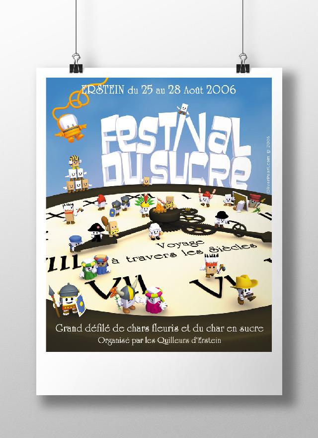 affiche du festival du sucre d'Erstein
