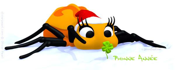 e-carte de voeux avec l'araignée d'Oliver Pearl