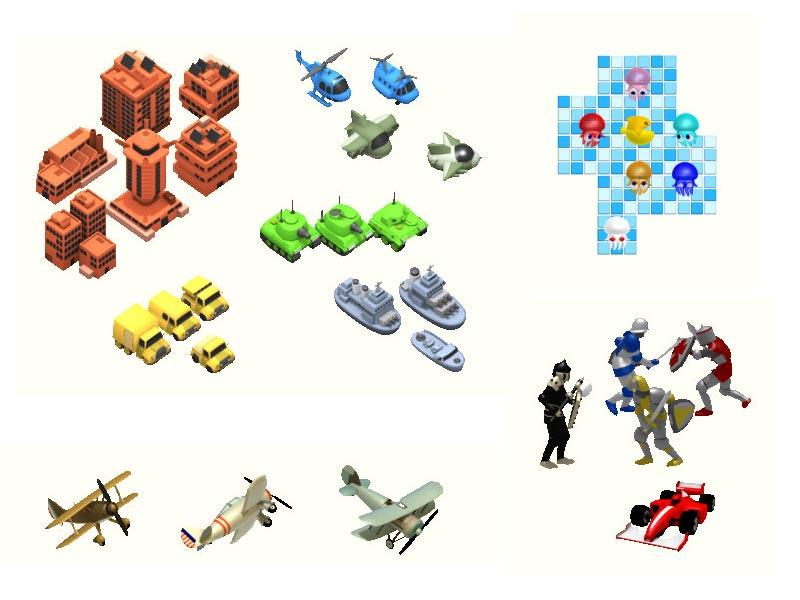 graphismes 3D, rendu 2D pour des librairies graphiques