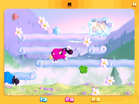 mini-jeu des moutons, jeu de plates-formes de Minute Match